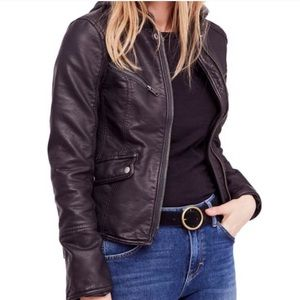 Free People Monroe Faux Leather Jacket